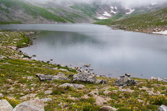 Lac de montagne rocheuse sur mt Evans le Colorado Images libres de droits