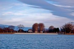 Lac De Monteux Франция Стоковые Фото