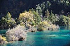 Lac de pétillement Jiuzhaigou Photographie stock