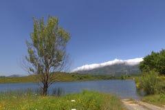 Lac de Padula (Padula lake) near the mountain village Oletta in the Nebbio region, Northern Corsica, France Royalty Free Stock Photo