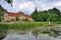Lac de parc de Schloss Fasanarie à Fulda dans Hesse, Allemagne images libres de droits