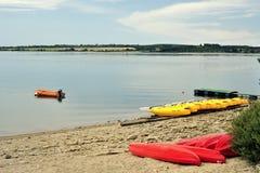 Lac DE Pareloup, dichtbij Millau, Frankrijk Royalty-vrije Stock Afbeelding