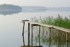 lac de passerelle Photographie stock