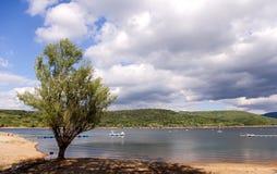 Lac de rasillo d'EL, barrage, marais. Images stock