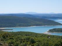 Lac de Sainte-Croix在法国 库存图片