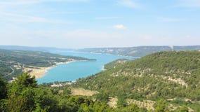 lac de Sainte-Croix, Gorges du Verdon,法国 免版税库存图片