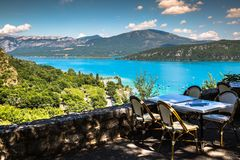 Lac de Sainte-Croix, озеро Sainte-Croix, Ущелья du Verdon, Pro Стоковые Изображения