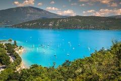 Lac de Sainte-Croix, озеро Sainte-Croix, Ущелья du Verdon, Pro Стоковые Изображения RF