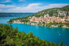 Lac de Sainte-Croix, озеро Sainte-Croix, Ущелья du Verdon, Pro Стоковая Фотография