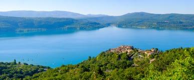 Lac de Sainte Croix Провансаль, Alpes, Франция стоковая фотография