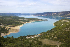 Lac de Sainte Croix. (Provence - Alpes, France) - View of the lake Royalty Free Stock Image