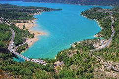 Lac de Sainte-Croix Stock Photography