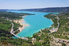 Lac de Sainte-Croix. In Provence Stock Photos