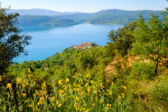 Lac de Sainte Croix普罗旺斯, Alpes,法国 库存图片