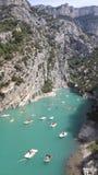 Lac de Sainte-Croix. Amazing lake in France Stock Photos