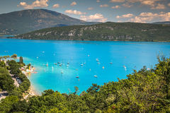 Lac de Sainte-Croix, Lake of Sainte-Croix, Gorges du Verdon, Pro Royalty Free Stock Images