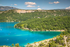 Lac de Sainte-Croix, Lake of Sainte-Croix, Gorges du Verdon, Pro Royalty Free Stock Photography