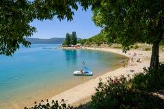 Lac de Sainte Croix Provence, Alpes, France Stock Photography