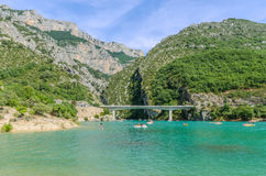 Lac de Sainte-Croix in Provence, France Royalty Free Stock Image