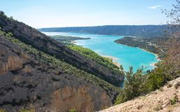 Lac de Sainte-Croix. View on Lac de Sainte-Croix in Provence, France Stock Photography