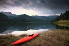 Lac de Sauris Italie images libres de droits