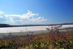 Lac de sel unique Chokrak image stock