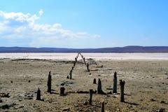 Lac de sel unique Chokrak photographie stock libre de droits