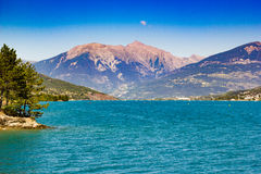 Lac de serre poncon. En france Royalty Free Stock Photography