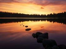 Lac de Servieres, Auvergne, Франция Стоковые Фото