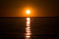 Lac de simcoe de coucher du soleil Photographie stock libre de droits