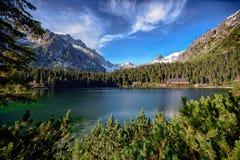 Lac de Strbske Pleso dans haut Tatras, Slovaquie Images libres de droits