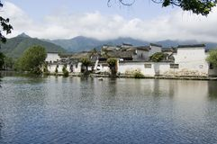 Lac de sud de Hongcun Photo stock