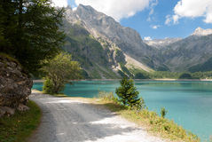 Lac DE Tseuzier in Zwitserland Stock Afbeelding
