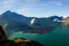 Lac de volcan Images stock