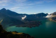 Lac de volcan Photos libres de droits