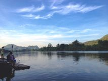Lac de vue de matins Photo stock