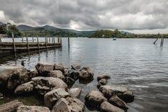Lac Derwentwater en Angleterre Photo stock
