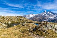 Lac des Cheserys και σειρά βουνών - Γαλλία Στοκ φωτογραφία με δικαίωμα ελεύθερης χρήσης
