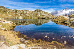 Lac des Cheserys And Aiguille du Tour - France Royalty Free Stock Image