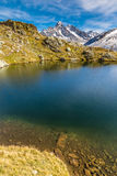 Lac des Cheserys And And Mountain Range - France Stock Images