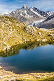 Lac des Cheserys And And Mountain Range - France Royalty Free Stock Photos