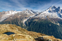 Lac des Cheserys And Mountain Range - France Royalty Free Stock Photo
