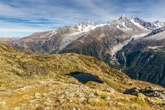 Lac des Cheserys And Mountain Range - France Royalty Free Stock Images