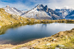 Lac des Cheserys And Mountain Range - France Royalty Free Stock Photography
