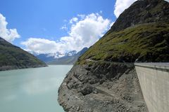 Lac des Dix and dam, Grande Dixence, Switzerland Stock Photography