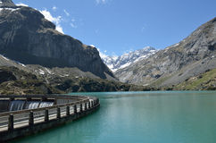 Lac des Gloriettes in the French Pyrenees Royalty Free Stock Images