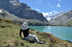 Lac des Gloriettes in the French Pyrenees Royalty Free Stock Photos