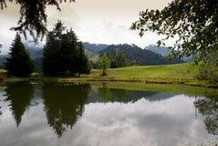 Lac Des Joncs in Zwitserland Royalty-vrije Stock Fotografie