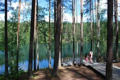 Lac devil, Lettonie Images stock