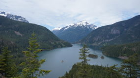 Lac Diablo, Washington State, Etats-Unis photographie stock libre de droits
